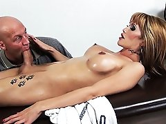 Gorgeous Eva fucked by the masseuse