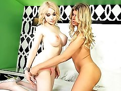 Hot tgirls Angelina & Sarina having fun