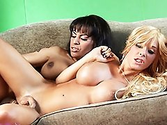 Sexy Tgirl Foxxy Having Fun With Kimber James